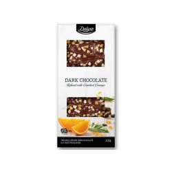 "Dark chocolate refined with candied oranges ""Deluxe"", 120 g"