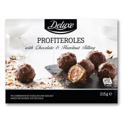 "Profiteroles with chocolate & hazelnut filling ""Deluxe"", 215 g"