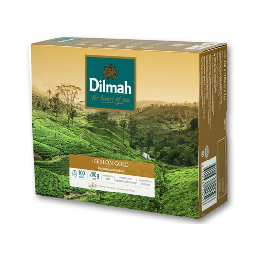 "Black tea ""Dilmah"" Ceylon Gold, 100 pcs"