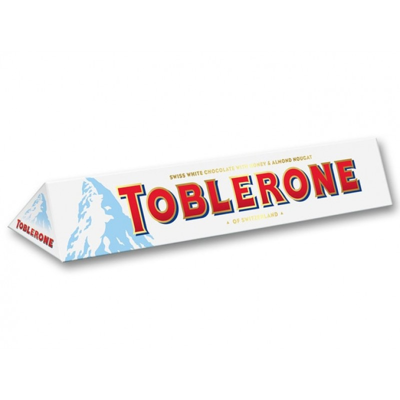 Swiss White Chocolate Toblerone Honey Almond Nougat 100 G