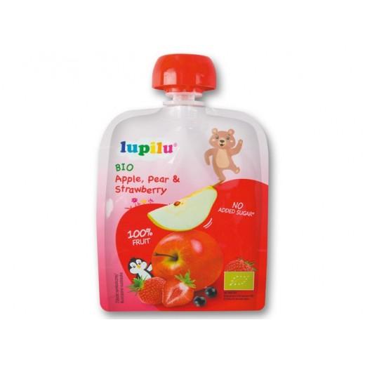 BIO Organic Apple, Pear & Strawberry mousse, 90 g