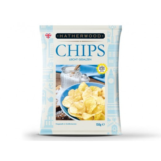 """Lightly salted hand made chips """"Hatherwood"""", 150 g"""