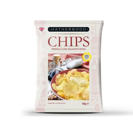 "Hand made chips ""Hatherwood"" Sea salt & Balsamic vinegar, 150 g"