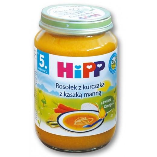 "BIO Chicken broth with semolina ""Hipp"", 190 g"