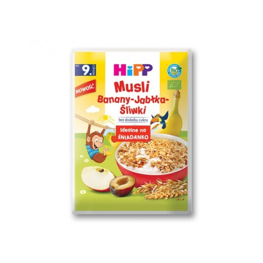 "BIO Organic Banana & Apple muesli ""Hipp"", 30 g"