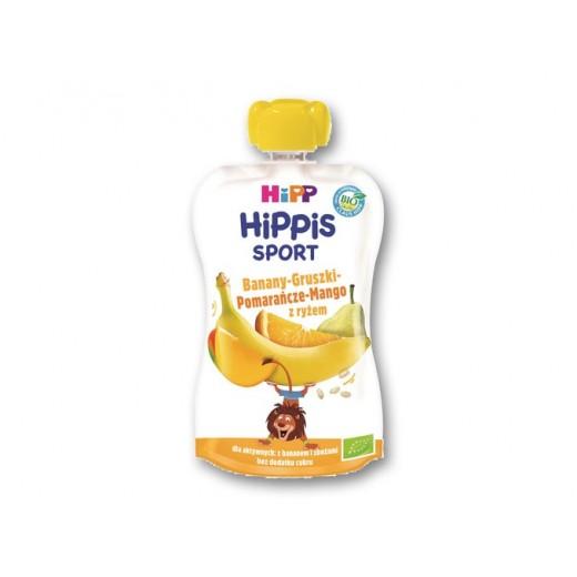 "BIO Organic fruit & rice puree ""Hippis Sport"", 120 g"