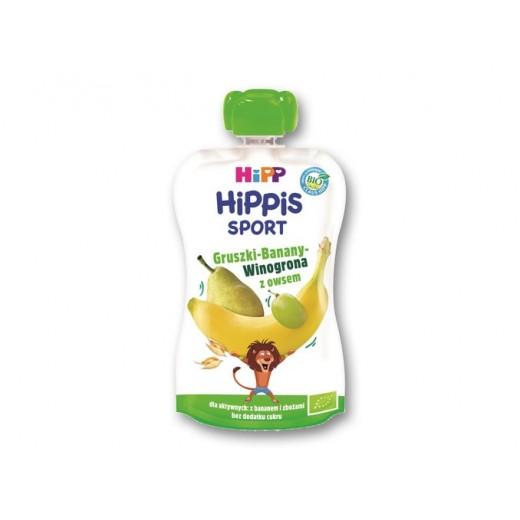 "BIO Organic fruit & oats puree ""Hippis Sport"", 120 g"