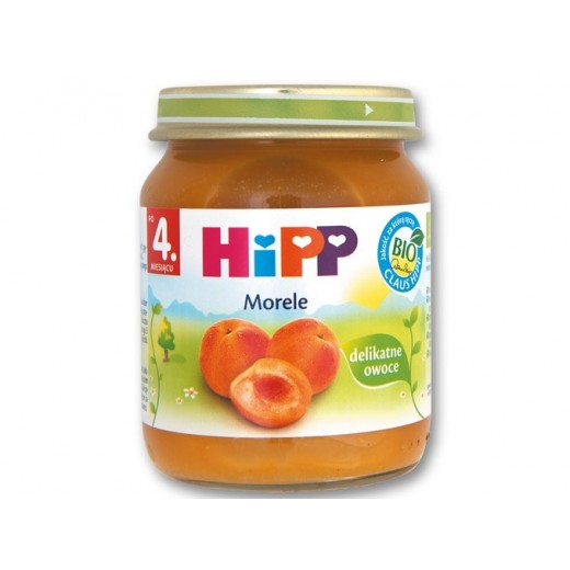 "BIO Organic apricot puree ""Hipp"", 125 g"