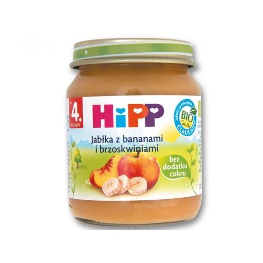 "BIO Organic apple, banana, peach puree ""Hipp"", 125 g"