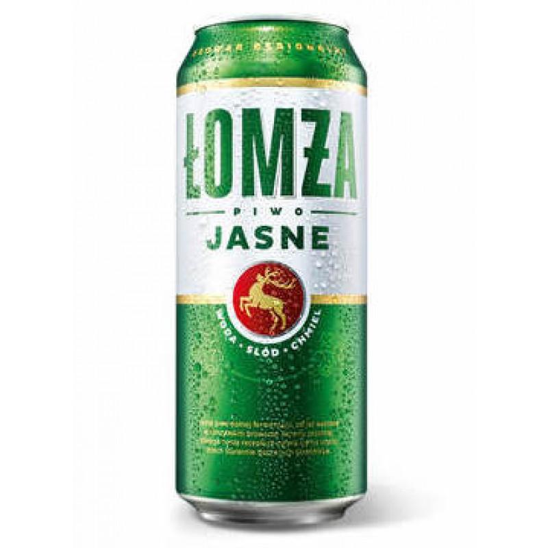 """Premium lager beer 5,7% """"Lomza Jasne"""", 500 ml"""