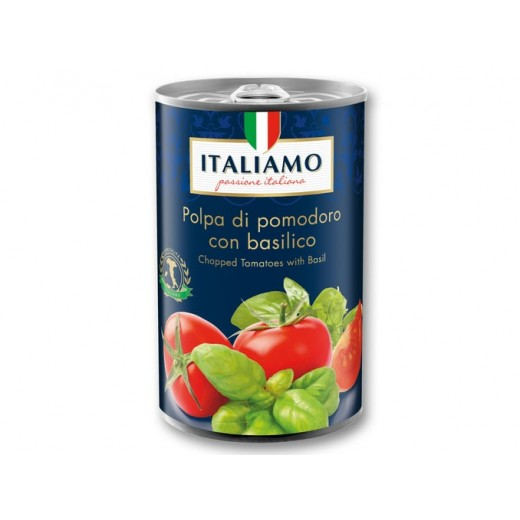 "Chopped tomatoes with Basil ""Italiamo"", 425 ml"