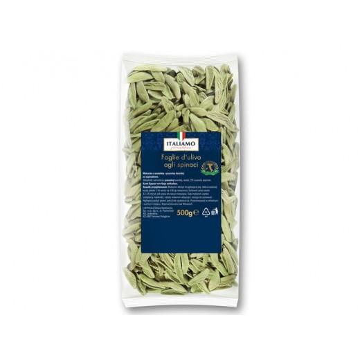 """Italian pasta Foglie d'ulivo with spinach """"Italiamo"""", 500 g"""