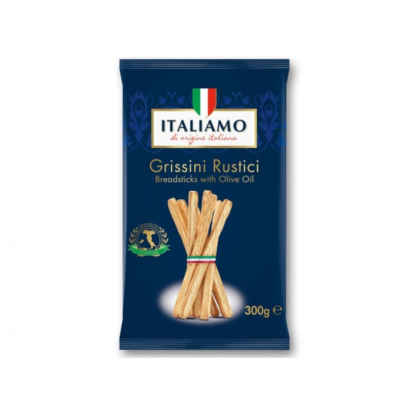 Znalezione obrazy dla zapytania Italiamo Grissini Rustici breadsticks with olive oil