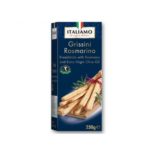 "Grissini Rosmarino Breadsticks with rosemary & olive oil ""Italiamo"", 250 g"