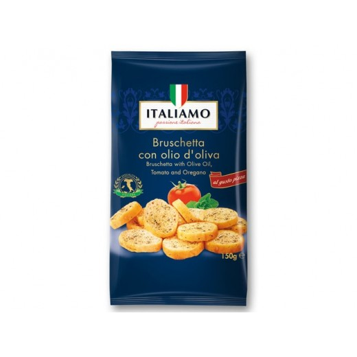 "Bruschetta with olive oil, tomato & oregano ""Italiamo"", 150 g"